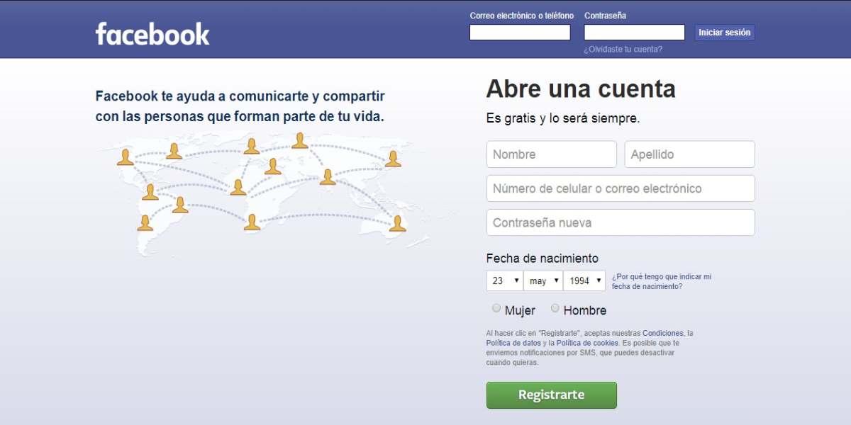 Como crear un perfil Facebook